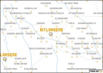 map of Aït Lahsene