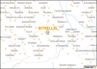 map of Aït Mellal