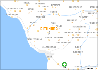 map of Aït Mhand
