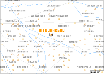 map of Aït Ouaaksou