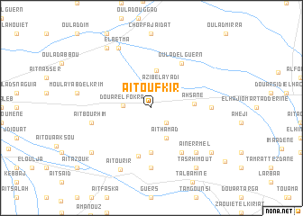 map of Aït Oufkir