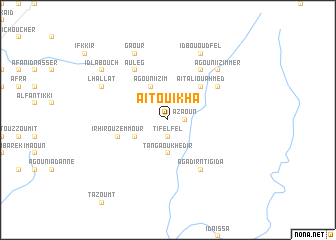 map of Aït Ouikha