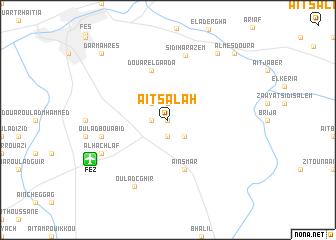 map of Aït Salah