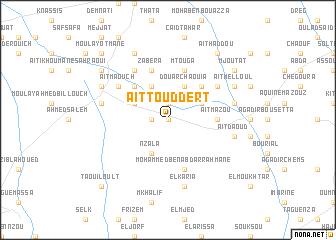 map of Aït Touddert