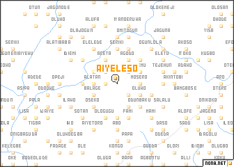 map of Aiyeleso