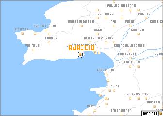Ajaccio (France) map   nona.net