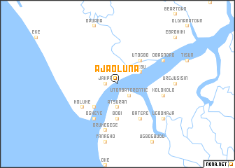 map of Ajaoluna