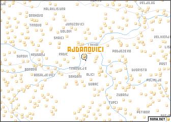 map of Ajdanovići