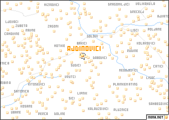 map of Ajdinovići