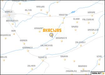 map of Akācijas
