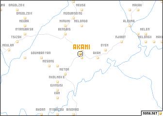 map of Akam I
