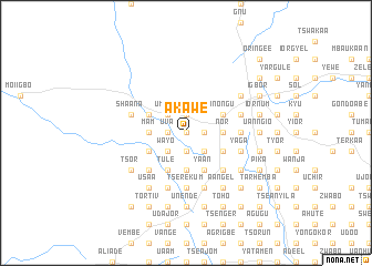map of Akawe