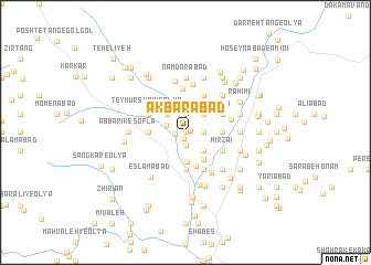 map of Akbarābād