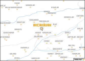 map of Akçakavak