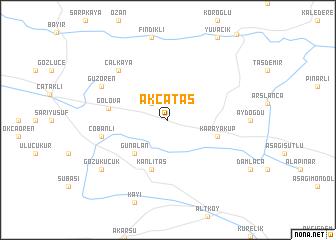 map of Akçataş