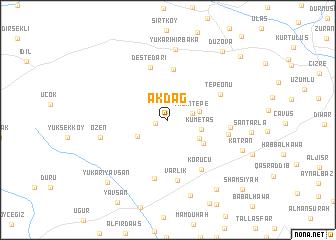 map of Akdağ