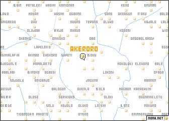 map of Akeroro