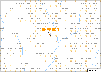 map of Akeroro