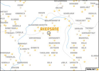 map of Akersane