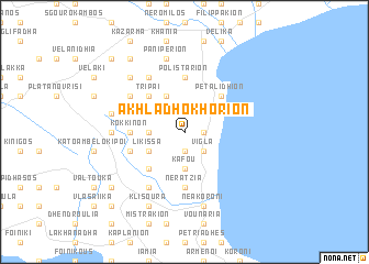 map of Akhladhokhórion