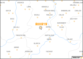 map of Akkaya