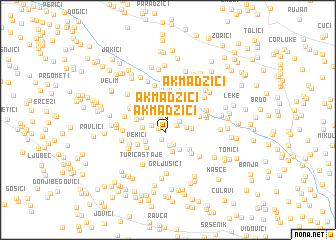 map of Akmadžići