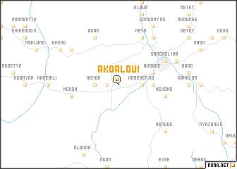 map of Akoaloui