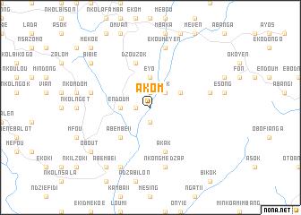 map of Akom