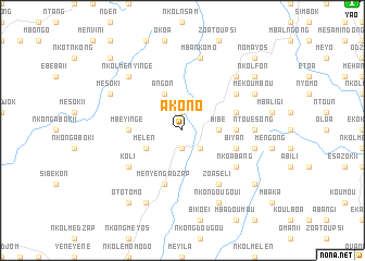 map of Akono