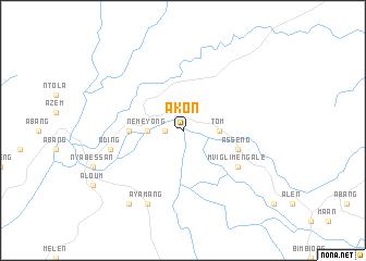 map of Akon