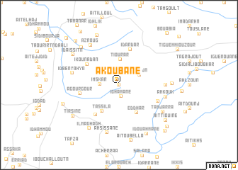 map of Akoubane