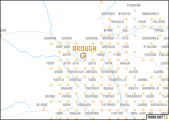 map of Akough