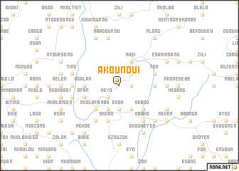 map of Akounou I