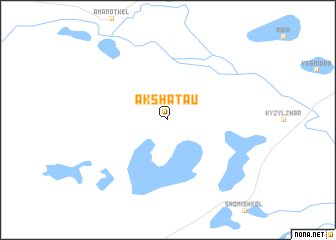 map of Akshatau