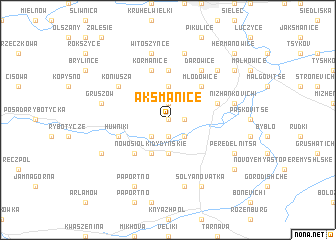 map of Aksmanice