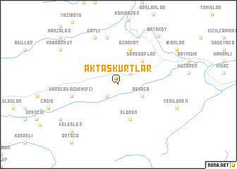 map of Aktaşkurtlar