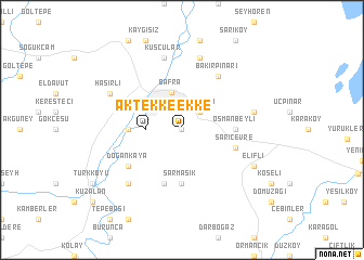 map of Aktekke