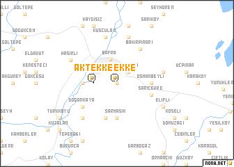 map of Aktekke