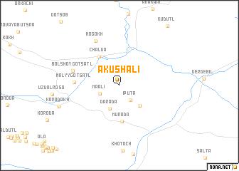 map of Akushali