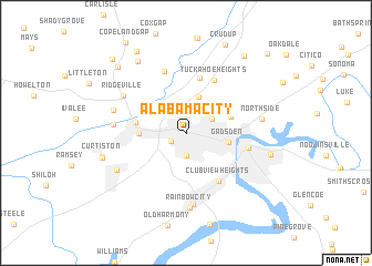map of Alabama City