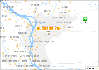 map of Al 'Abbāsīyah