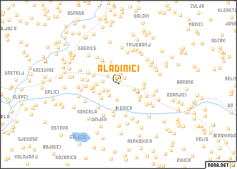 map of Aladinići