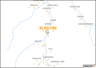 map of Al 'Ādīyah