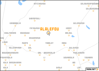 map of Alaléfou