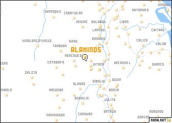 map of Alaminos