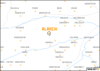 map of Alancık