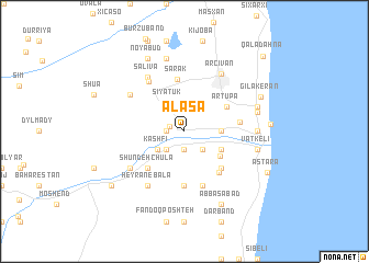 map of Alaşa