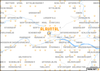 map of Alauntal