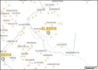 map of Albania