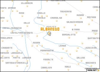 map of Albaredo
